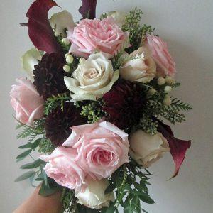 Dahlia and Garden Rose Bridal Bouquet